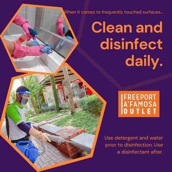 We Clean and Disinfect Daily