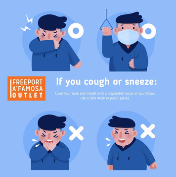 Cover your mouth if you cough or sneeze