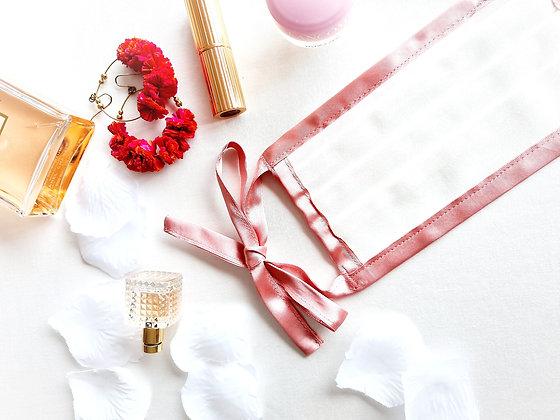 FACE MASK - WHITE & ROSE PINK