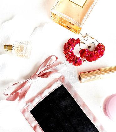 FACE MASK - BLACK & ROSE PINK