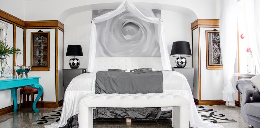 Platin Suite Schlafzimmer Bett