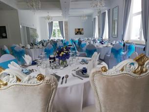 Hochzeitsdeko für Saal, als Beispiel