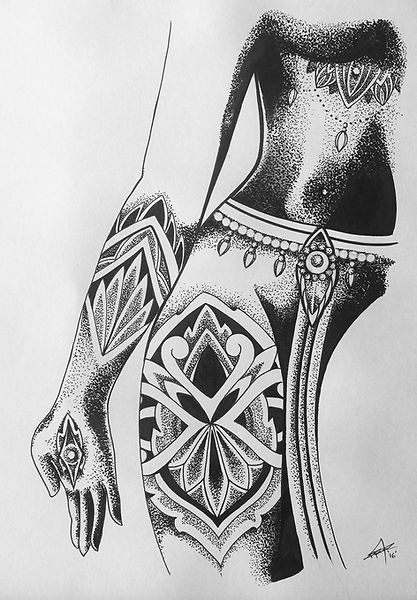 1_Female body with cultural patterns_A_C