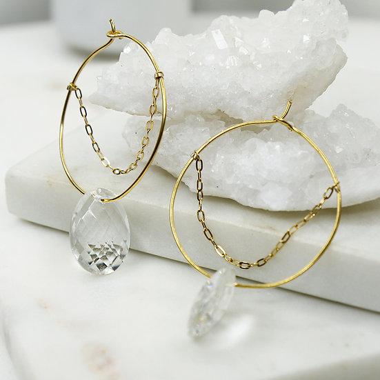 Boucles d'oreilles Marina (Quartz)