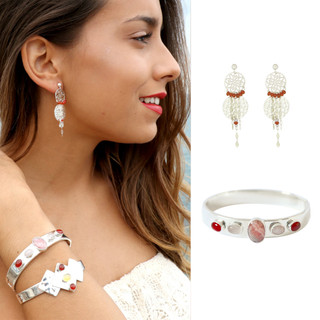 Boucles d'oreilles Olivia et Bracelet Vania