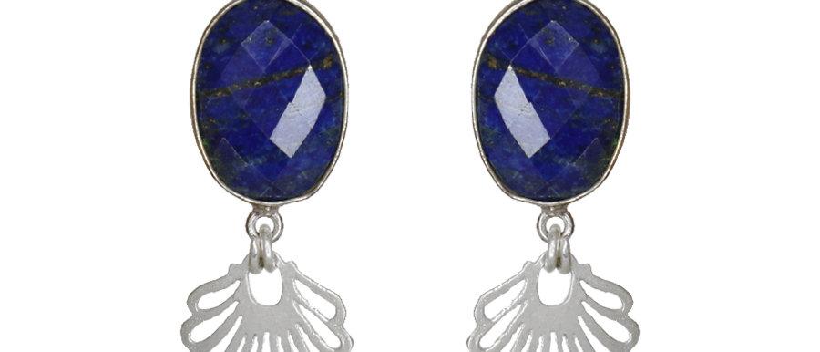 Boucles d'oreilles Elise (Lapis-lazuli)