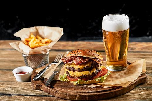bigstock-Set-Of-Hamburger-Beer-And-Fren-