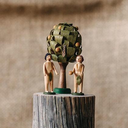 Adam und Eva mit Baum