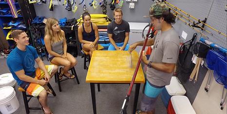 Spearfishing classroom
