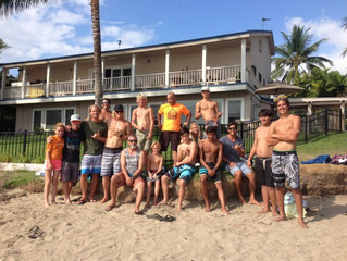 Lahainaluna Surf Team Breathing Session