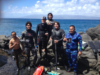Another MSA guide trained in deep diving!