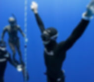 Freediving students in maui