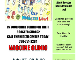 Vaccine Clinic - July 27, 28 & 29, 2021