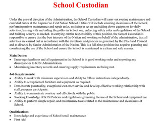 Full-time School Custodian