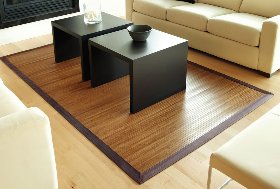 AMB0031 Bamboo Rugs ContempChocolate