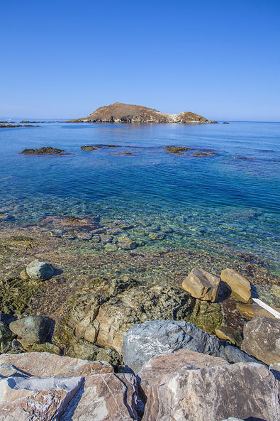 A view of the sea of Centuri, Corse, Fra