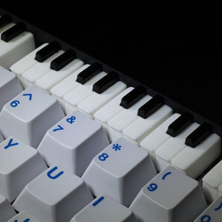 MitchCapped PianoKey along the num row! ._._._.