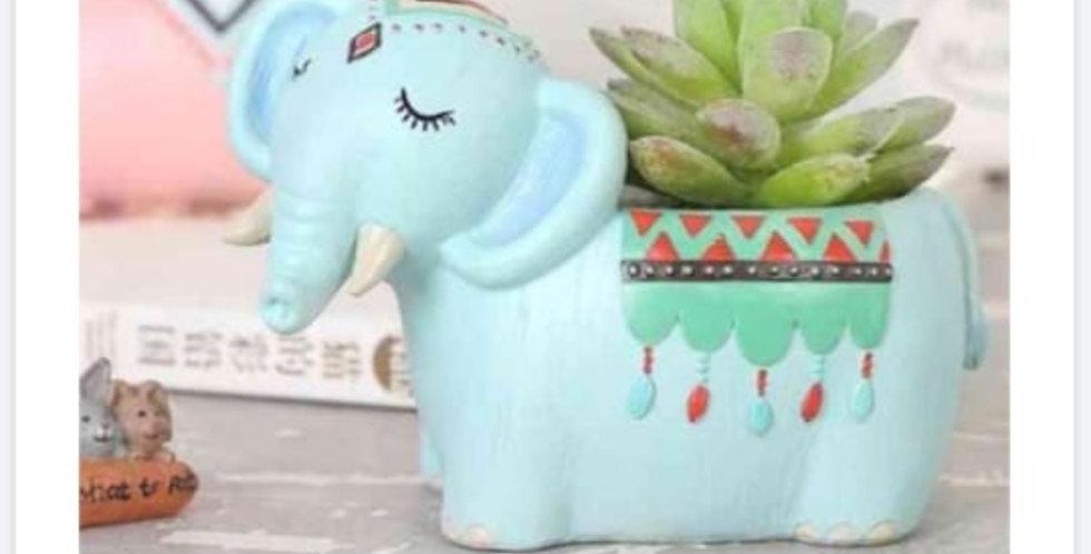 Cute Elephant Resin Planter