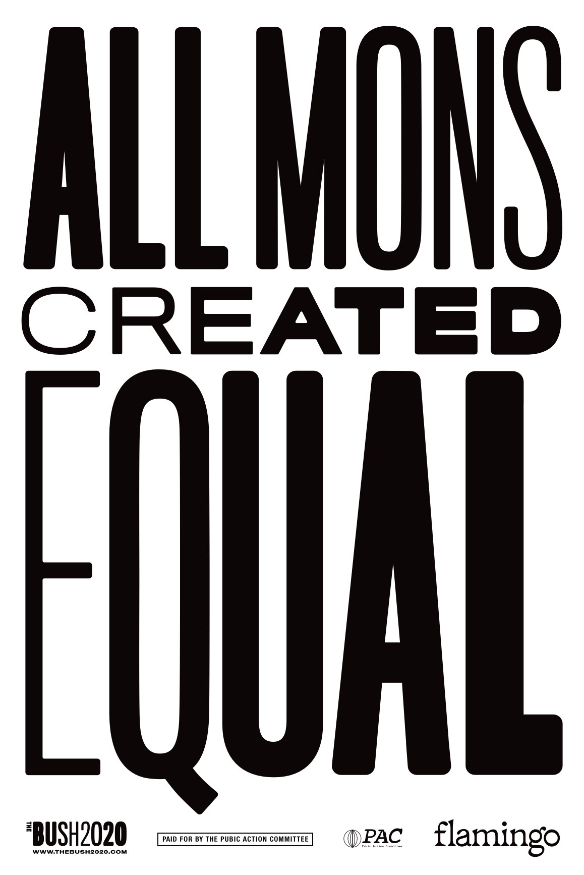 All Mons Created Equal Poster Black_Whit