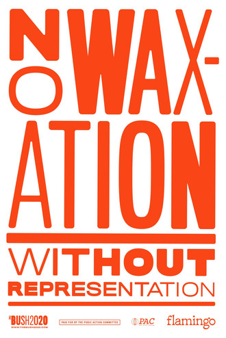 No Waxation Without Representation Poste