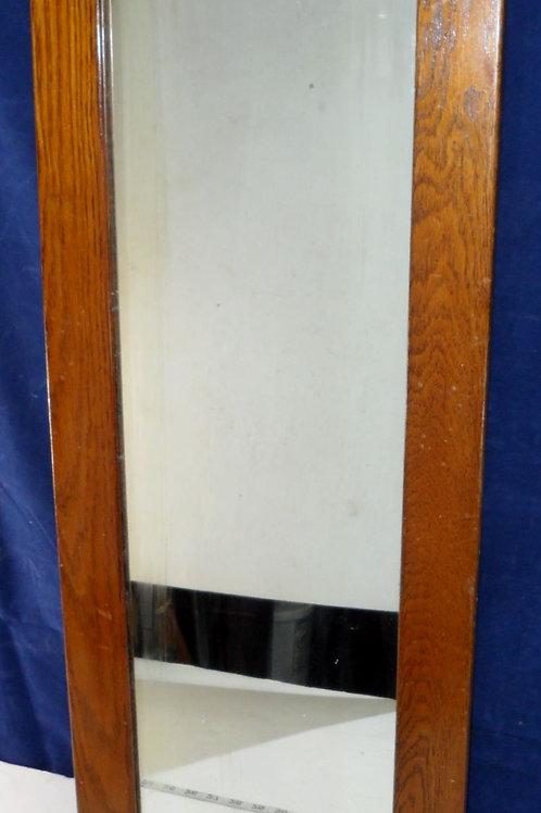 Oak Framed Mirror 13-3/4in X 36in