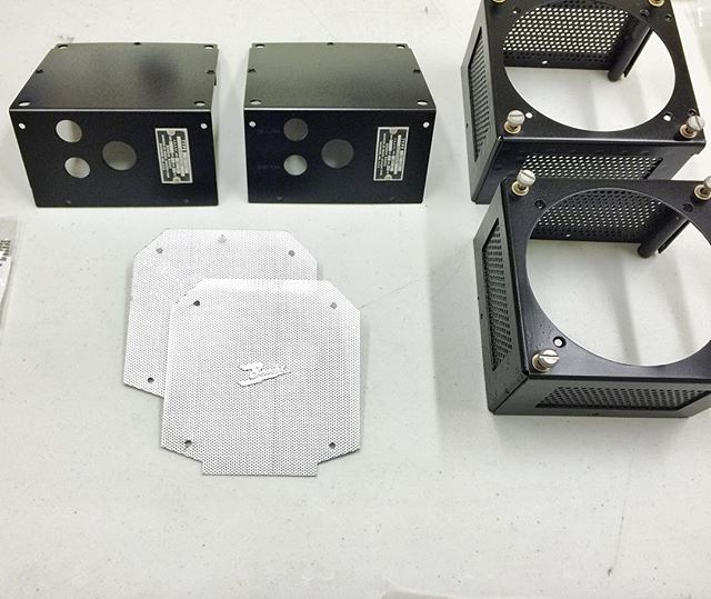 Rebuilt speaker housing for cockpit. These are the communication speakers for the aircraft's radios