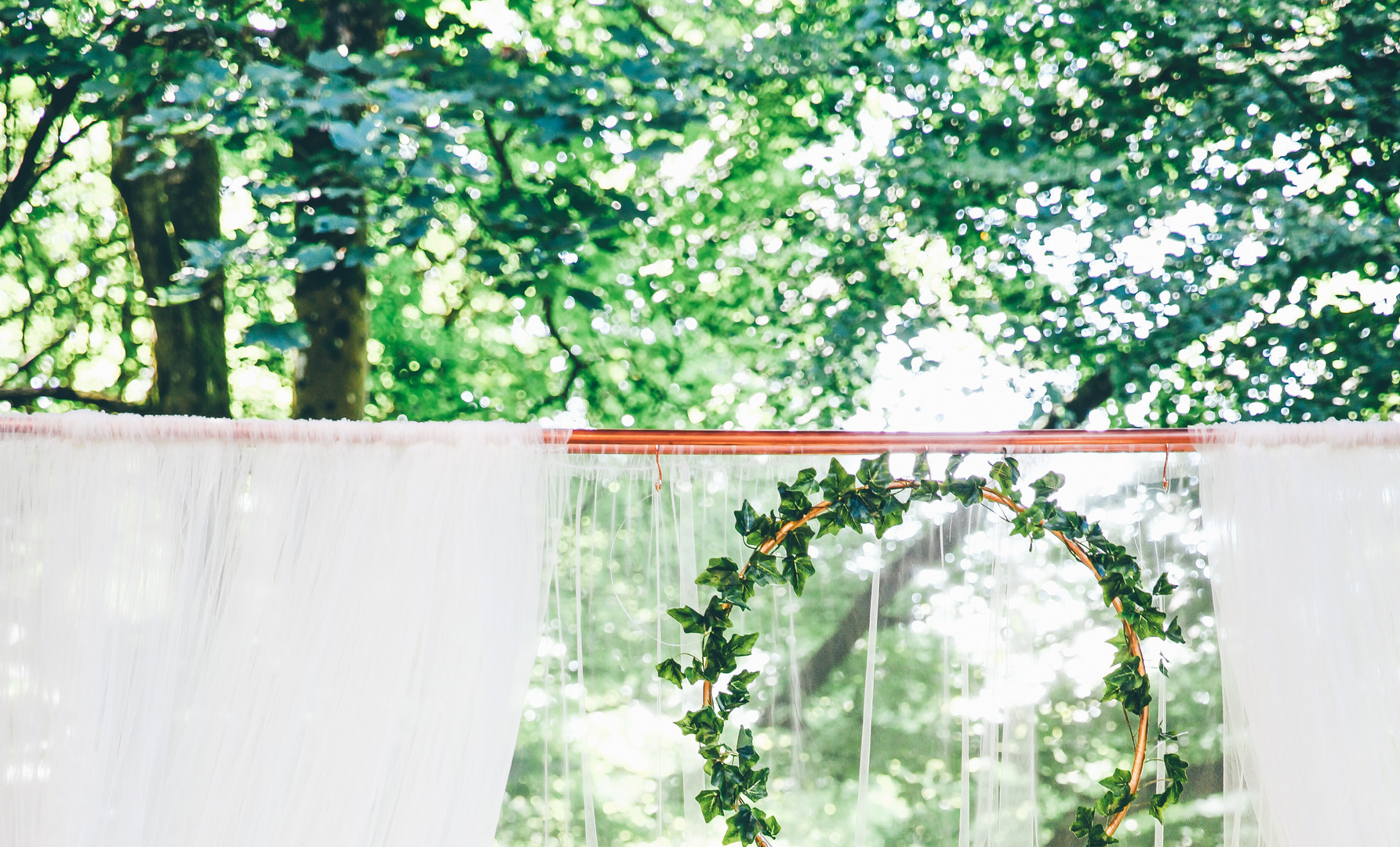 Ivy Hoops on Copper Frame