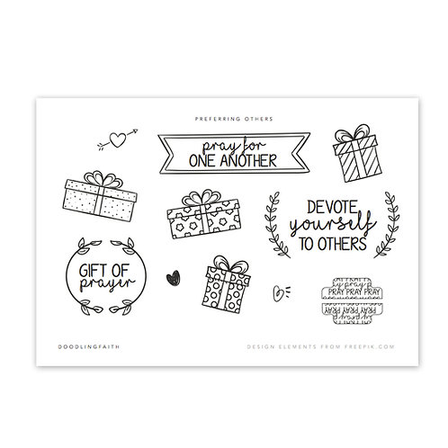 Printable for Bible journaling - The Gift of Prayer | Doodling Faith