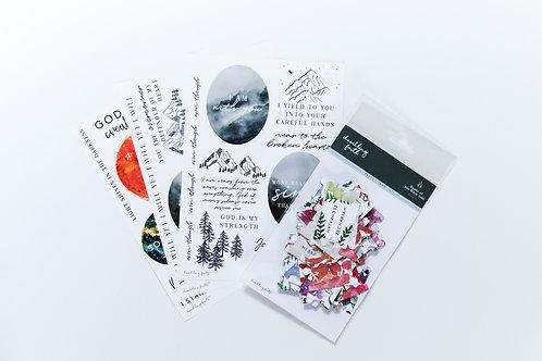 Bible Journaling Starter Kit - Paper Ephemera kit   Doodling Faith
