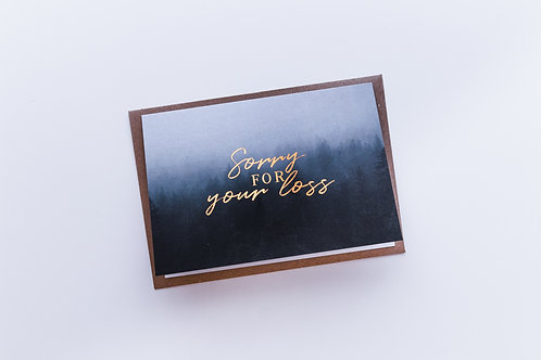 Sorry for your loss sympathy card |  Matthew 5:4