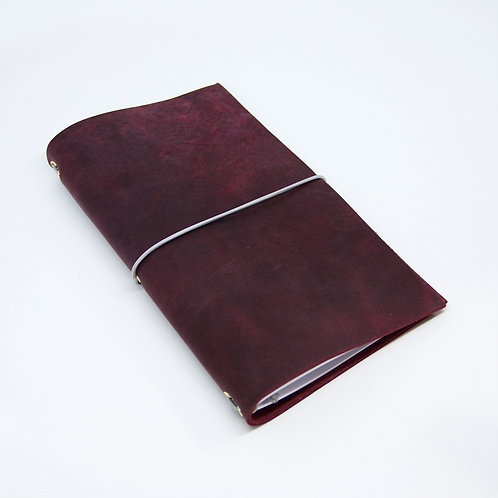 Handmade Leather Travellers Notebook Journal for Midori sized notebooks