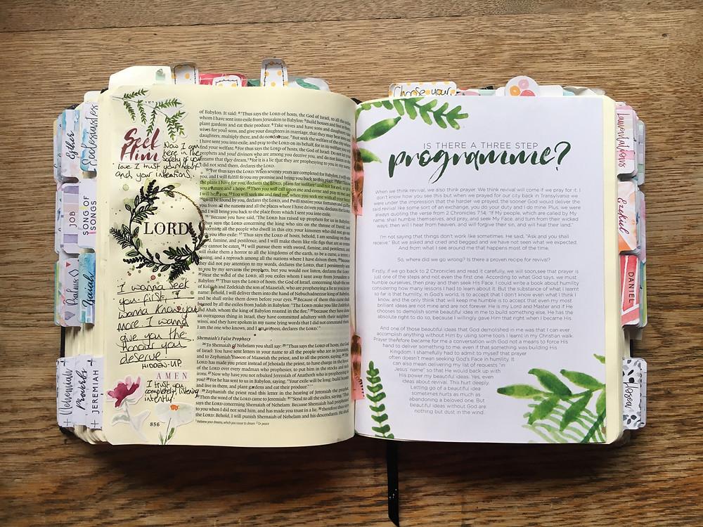 Revival Bible journaling kit week 2