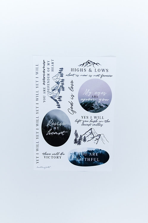 Highs and lows Bible Journaling Stickers | Doodling Faith