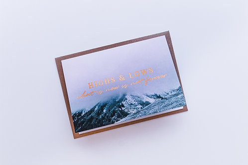 Highs and Lows sympathy card | 1 Peter 5:10