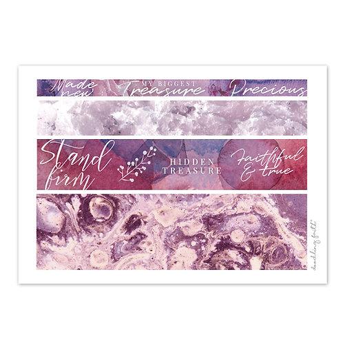 Printable for Bible journaling - Pink Washi Strips | Doodling Faith