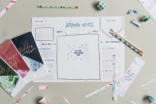 Introduction to Sermon Note taking | Doodling Faith