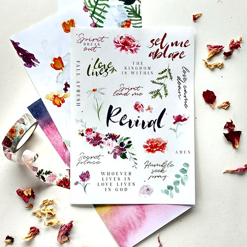 Revival Stickers and Patterned Paper | Doodling Faith
