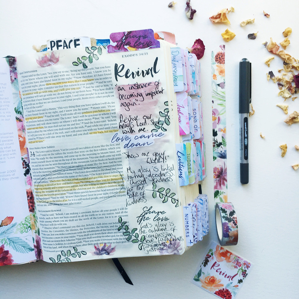 Revival Bible journaling kit Doodling Faith