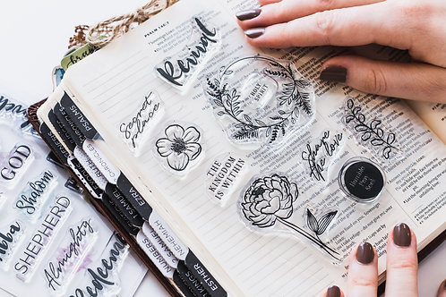 Revival clear stamp set for Bible journaling   Doodling Faith