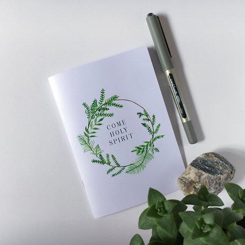 Come Holy Spirit dot grid bullet journal | Doodling Faith