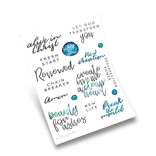 Renewed Bible Journaling Stickers | Doodling Faith
