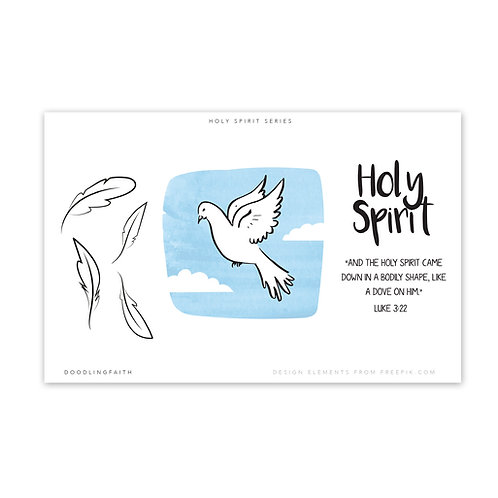Printable for Bible journaling - The Holy Spirit as a Dove | Doodling Faith