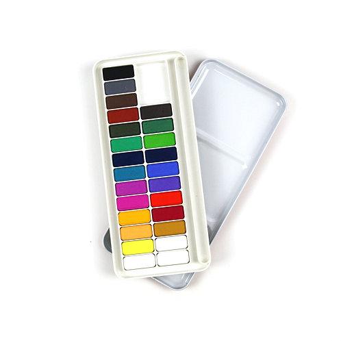 Watercolour Palette with 25 colours