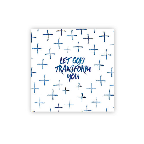 Let God Transform You mini art print | Doodling Faith