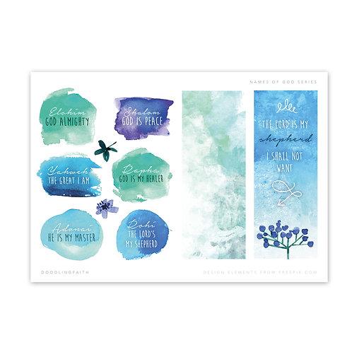 Names of God Series - Bible Study Printable