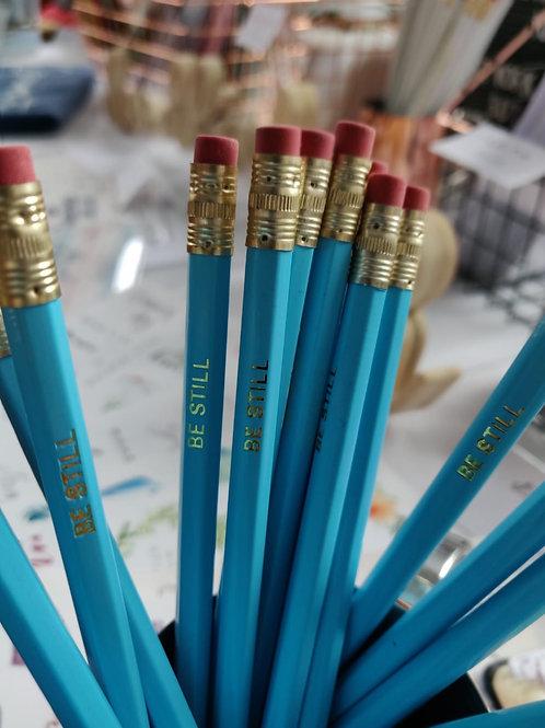 Be still gold foil pencil