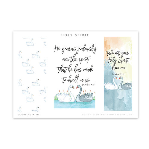 Printable for Bible journaling - The Holy Spirit Yearns | Doodling Faith