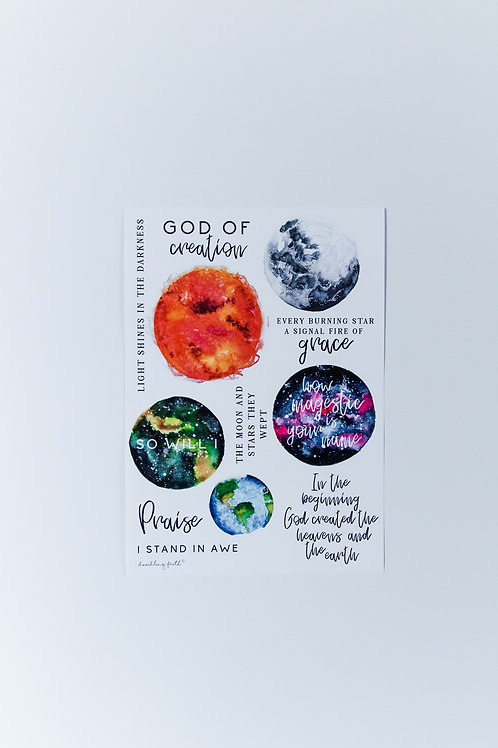 So will I Bible journaling stickers | Doodling Faith