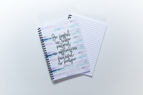 Be joyful in hope spiral wire bound A5 notebook Romans 12 | Doodling Faith
