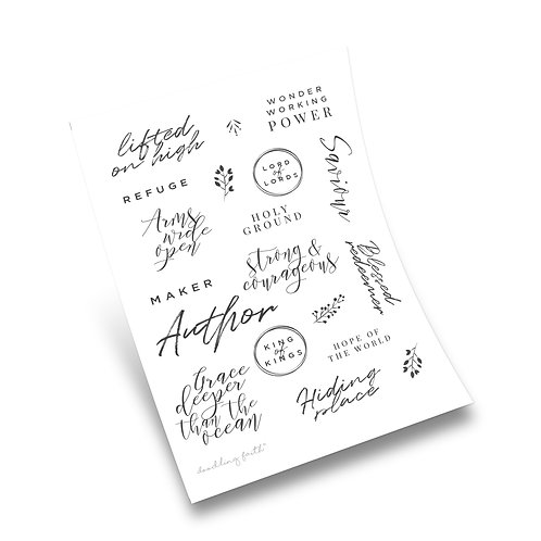 Worthy of your name Bible journaling stickers | Doodling Faith